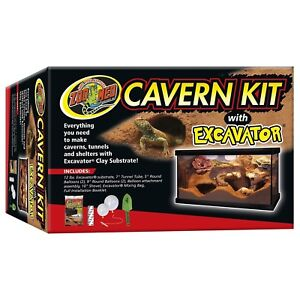 Zoo Med Cavern Kit with Excavator Reptile Decor