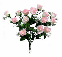 14 Rose Buds MANY COLORS Wedding Centerpieces Bridal Bouquet Silk Flowers