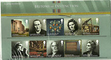 QE11 2012 BRITONS OF DISTINCTION PRESENTATON PACK MINT STAMPS