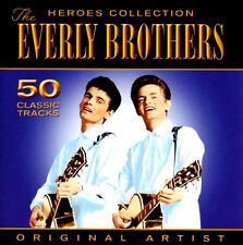THE EVERLY BROTHERS ~ HEROES COLLECTION ~ 50 CLASSIC TRACKS NEW AND SEALED 2CD