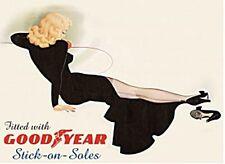 Plaque Métal Goodyear Stick-on Soles (fd)