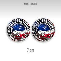Adesivi HARLEY DAVIDSON helmet bike custom stickers moto casco art 21.01 whtflag