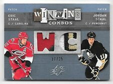 09/10 UD SPX Winning Combos Spectrum #SS Eric & Jordan Staal Dual Patch #17/25