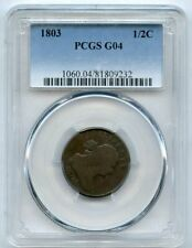 1803 1/2c Half Cent Coin PCGS G 04