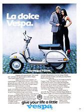 1979 La dolce Vespa P200E Scooter photo vintage print ad