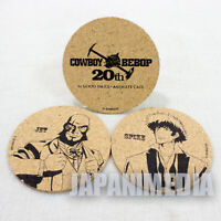 Cowboy Bebop Spike & Jet Black Cork Coaster set 20th Anniversary JAPAN