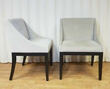 Beige Velveteen Dining Chairs - Set of Two