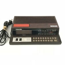 Toshiba Digital Alarm Clock Radio RC 8800 Touch Pad Snooze Vintage Works