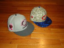 LOT OF 2 CHICAGO BEARS NEW ERA FITTED HATS SIZE 7 1/8 BREAST CANCER CAMO GSH