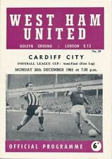 League Cup Teams C-E Cardiff City Final Football Programmes