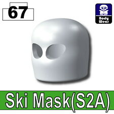 White Ski Mask (W6) Army Balaclava compatible with toy brick minifigures Black