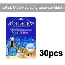 [EKEL] 30pcs, Collagen Ultra Hydrating Essence Facial Mask 25g Korea Cosmetics