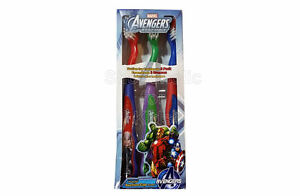 SFK Firefly Marvel Soft Toothbrush, Pack of 3 - Set A