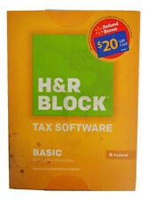 NEW 2014 H&R BLOCK TAX SOFTWARE Basic Simple Tax Situations Federal Only