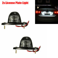 2x 3W Car License Plate Light Trunk Lamp White 6-SMD LED Bulb with Accessories