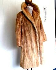 Mink Fur Blonde Coat 3/4 length by: Fashion Fur Shop  Bay City MI. Vintage 70's