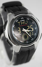 Casio AQ160W-1BV Men's Watch Analog Digital 100M WR World Time Active Dial New