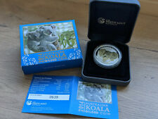 Perth Mint Australian KOALA 1 oz silver coin GILDED with 24 KT Gold  2014
