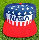 NASA Stars & Stripes USA Trucker Mesh Snap Back Patriotic Adult Hat Cap NWT