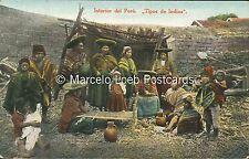 PERU TIPOS DE INDIOS INTERIOR DEL PERU A2990 ED. POLACK-SCHNEIDER