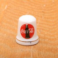 Coca Cola Coke Collectible Advertising Porcelain Sewing Thimble