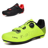 Men's Cycling Shoes Athletic Bike Ultralight Sneakers For All Road SPD-SL Pedals