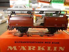 Vintage Marklin 4613 Autotransportwagen Beladen