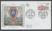 FRANCE FDC - 2476 1 CONGRES PHILATELIQUE A LENS - 6 Juin 1987 - LUXE sur soie