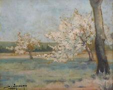 Paysage Huile sur toile signée et datée 1933 Post Impressionnisme Landscape