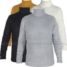 Maglione uomo Collo Alto Pullover Dolcevita maglia slim F20 nuovo