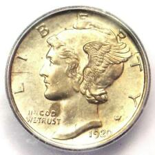 1920-D Mercury Dime 10C Coin - Certified ICG MS64 FB (Full Bands) - $1380 Value!