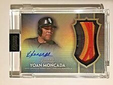 2017 Topps Dynasty Gold YM1 Yoan Moncada 3 Color Patch On Card Autograph RC #4/5