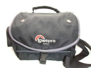 "LOWEPRO NOVA 1 Camera Case Bag With Shoulder Strap, Black, padded 8"" x 6.5"" x 4"""