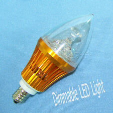 1x 9W Led Candle Light Bulbs E12 Warm White Dimmable 110V Golden Candelabra Usa