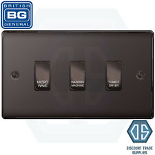 BG Black Nickel Custom Grid Switch Panel Labelled Kitchen Appliance 3 Gang