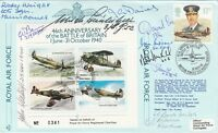 JSF7b9 46th Anniv  Battle of Britain  Signed by 9 Battle of Britain Pilots, Crew