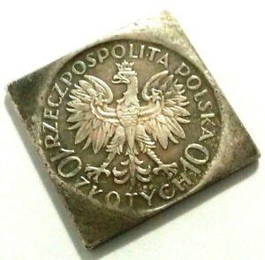 10 ZLOTYCH - POLAND 1933 - JAN SOBIESKI - SOUVENIR COIN MADE OF SILVERED METAL