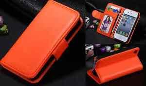 Apple IPhone 5 / 5s / Se wallet case in Orange Uk seller fast dispatch