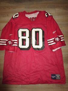 Jerry Rice #80 San Francisco 49ers Reebok NFL Super Bowl Reversible Jersey 52 XL