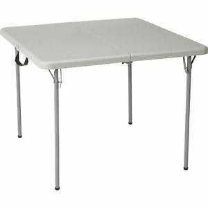 Ironton Square Resin Folding Table - 3ft.L x 3ft.W, Gray - Free Shipping