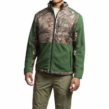 REALTREE Green Fleece/Camo Hunting Jacket  Mens size L FREE SHIPPING