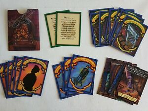 HARRY POTTER Philosopher's Stone Board Game REPLACEMENT Cards (See Description)