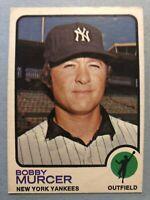 1973 Topps Baseball Card #240 Bobby Murcer New York Yankees