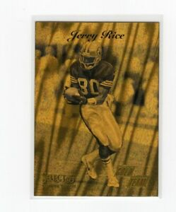 1995 Select Certified Edition Gold Team Jerry Rice #1 Insert NM-MT