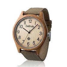 Holzuhr Armbanduhr Damen Herren Unisex Minden Bambus antiallergen federleicht