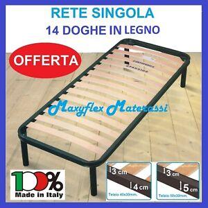 RETE LETTO ORTOPEDICA A DOGHE SINGOLA IN FERRO UNA 1 PIAZZA 80X190 PER MATERASSO