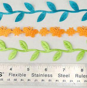 10 Yards Satin Ribbon Trim Lace Butterfly Flower Vine Leaf Shape Craft US Seller