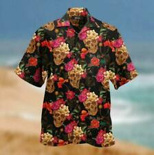 Amazing Sugar Skull Unisex Hawaii Men's Short Sleeve Shirt