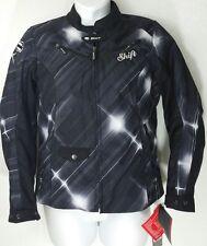 NWT SHIFT ENVY Armored Motorcycle Jacket TEXTILE BLACK /GRAY WOMEN'S SZ LARGE