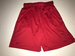 Nike Dri-Fit MLB Boston Red Sox Baseball Athletic Shorts Red Men's Medium NWOT!
